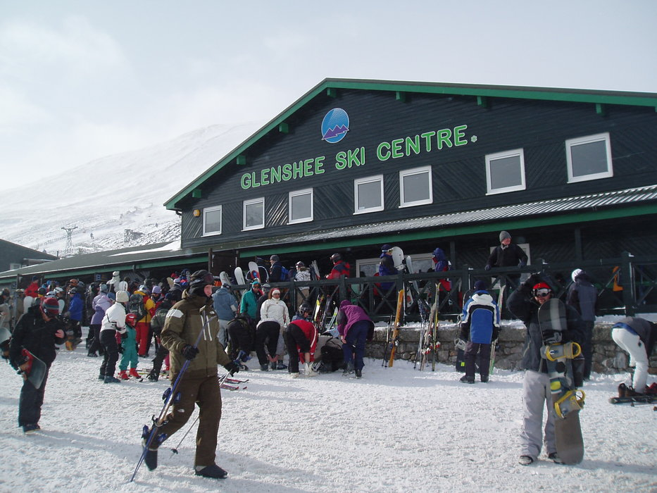 The base area at the Glenshee Ski Centre. Copyright: Cairnwell Mountain Sports