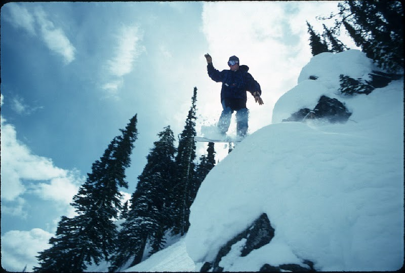 Snowboarder at Lost Trail, Montana.