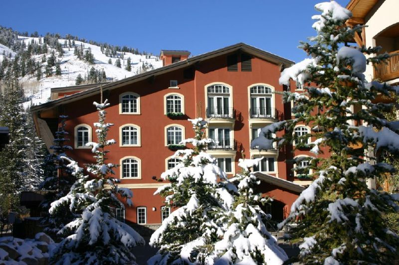 A view of a lodge at Solitude Mountain resort, Utah