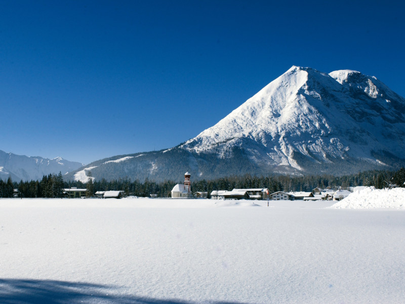 Scenic view of Leutashch, Austria