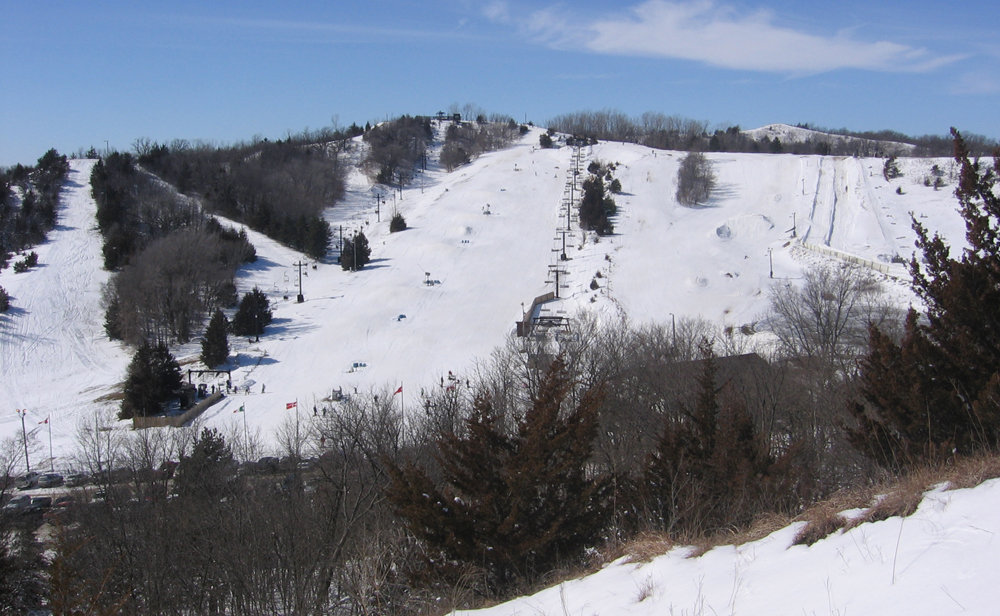 View of the slopes at Mt. Crescent,  Iowa