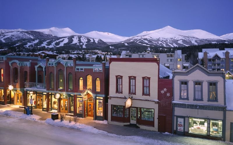 A view of the town of Breckenridge, Colorado at night - ©Breckenridge