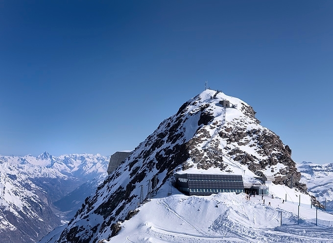 Solar restaurant on the Matterhorn Glacier Paradise (2883m)