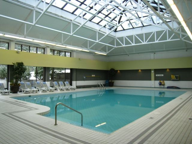 Indoor swimming pool at Delta Kananaskisin Nakiska, Alberta