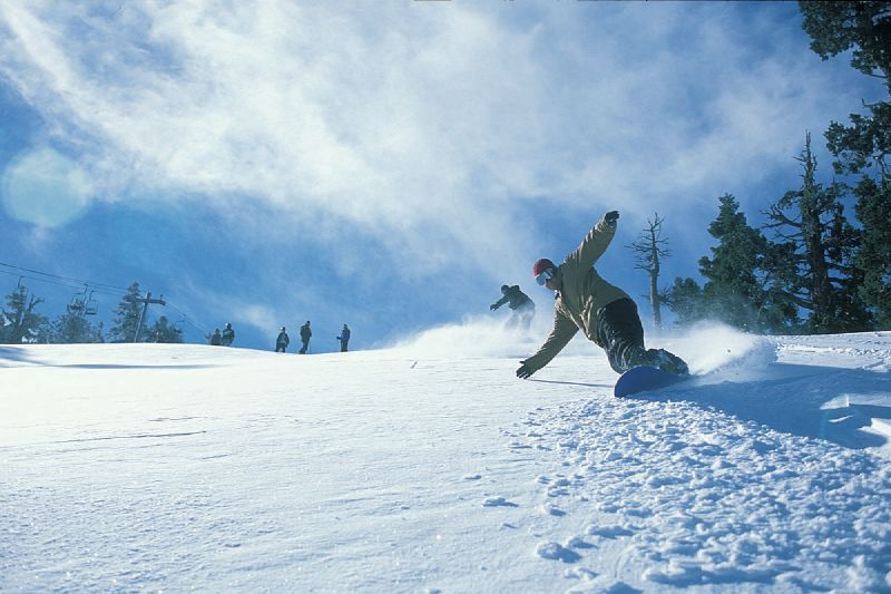 Snowboarders in Snow Summit, California