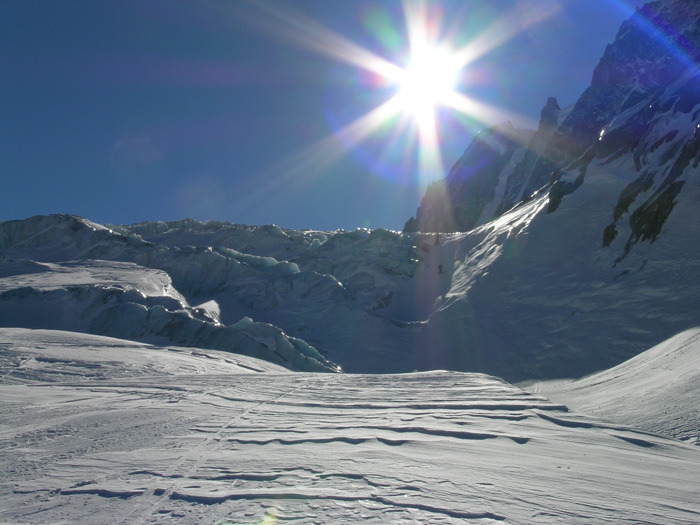 A glacier at Chamonix FRA
