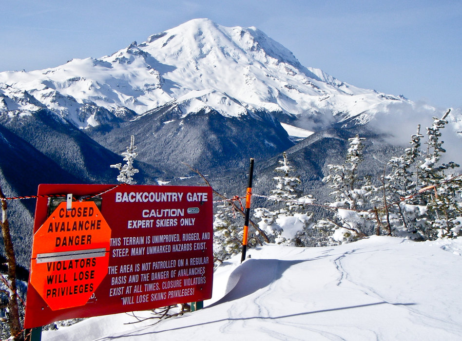 Gates into the backcountry from Crystal Mountain are sometimes closed due to avalanche danger.  - ©Andrew Longstreth/Crystal Mountain Resort