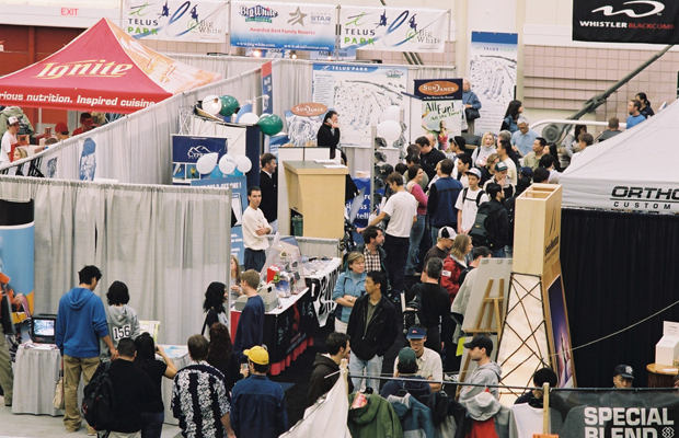 The Calgary Snow Show features industry booths. Photo courtesy of CanWest Productions.