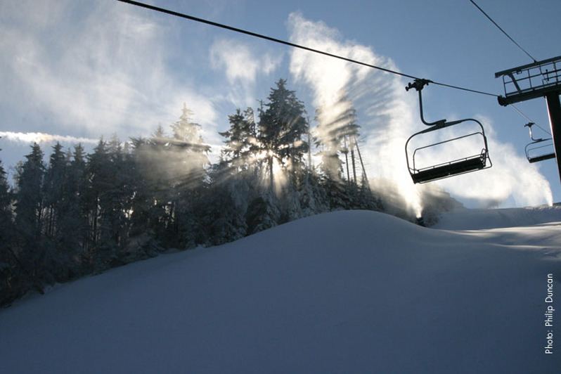 Fresh coats of powder await skiers at Snowshoe. Photo Courtesy of Snowshoe Mountain Resort.
