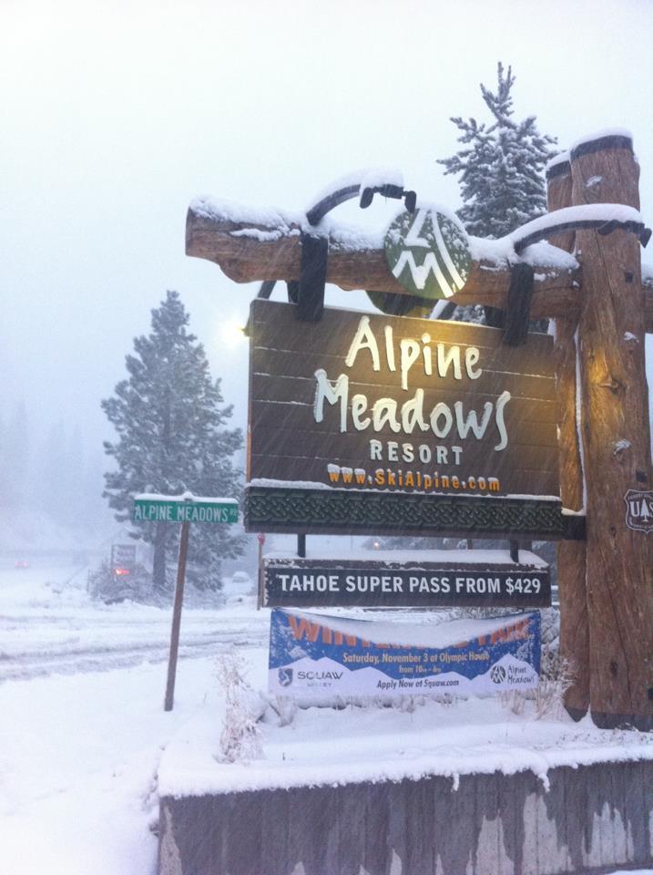 Snow at Alpine Meadows. Photo:Alpine Meadows/Facebook