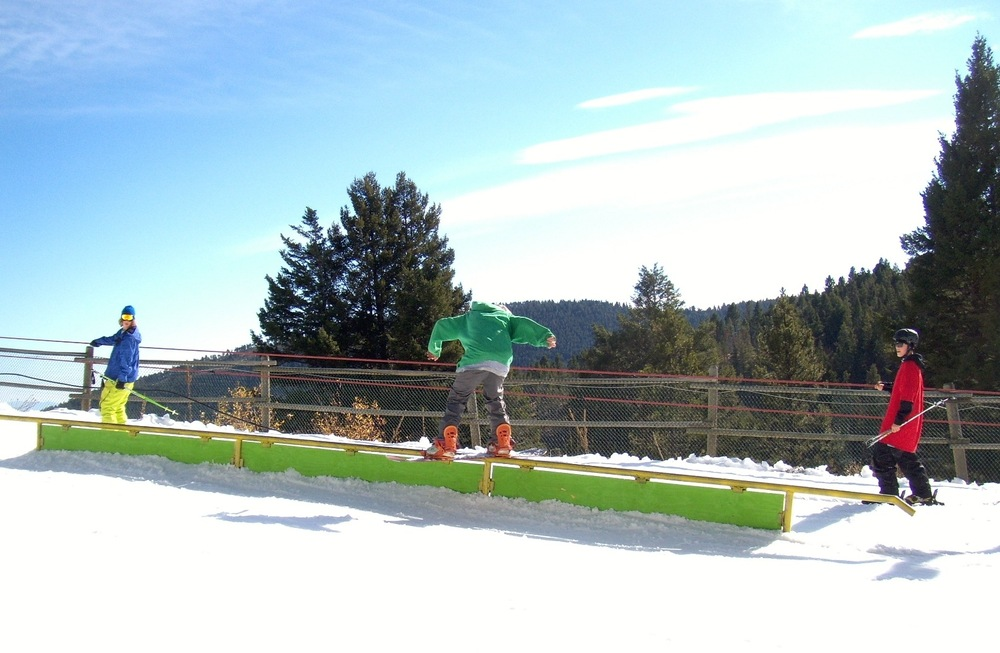 Great Divide's PocketPark gets riders on boxes early season. Photo courtesy of Great Divide.