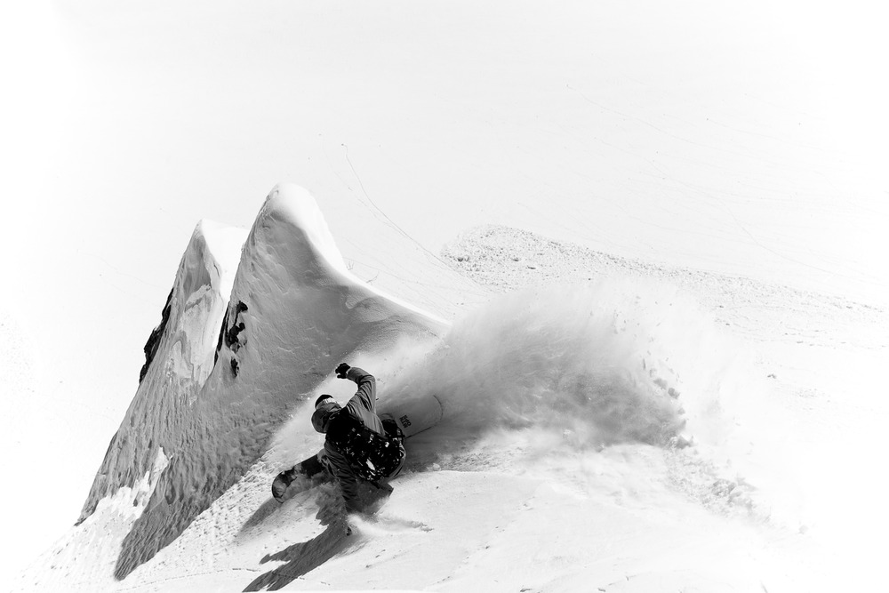 Pete Wurster rides for Warren Miller in the Vail back country