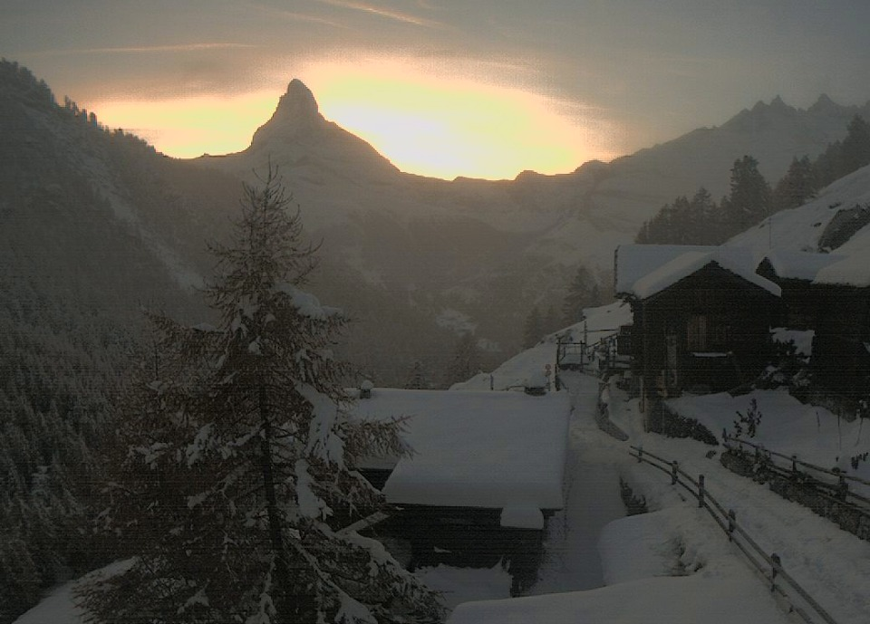 Zermatt webcam Findeln Oct. 29