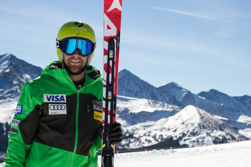 U.S. Ski Team Athlete Travis Ganong was on hand to show skiers how it's done.