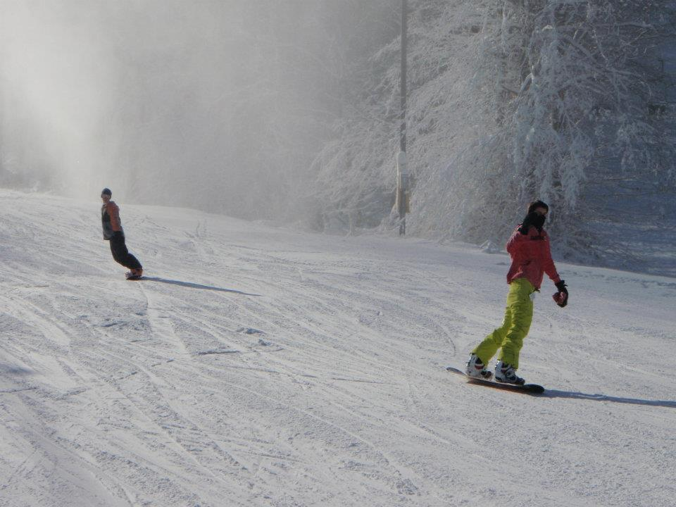 Pennsylvania snowboarders enjoy a fresh surface at Hidden Valley. Photo Courtesy of Hidden Valley Resort.