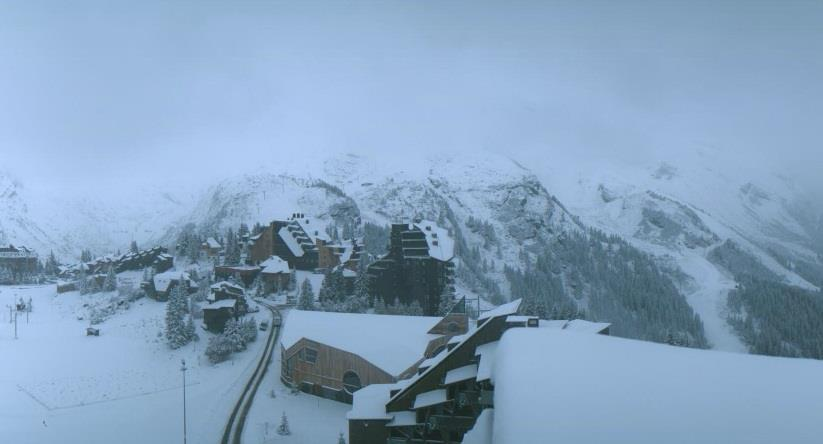 Plenty of snow in Avoriaz ahead of the season. Photo taken Oct. 15