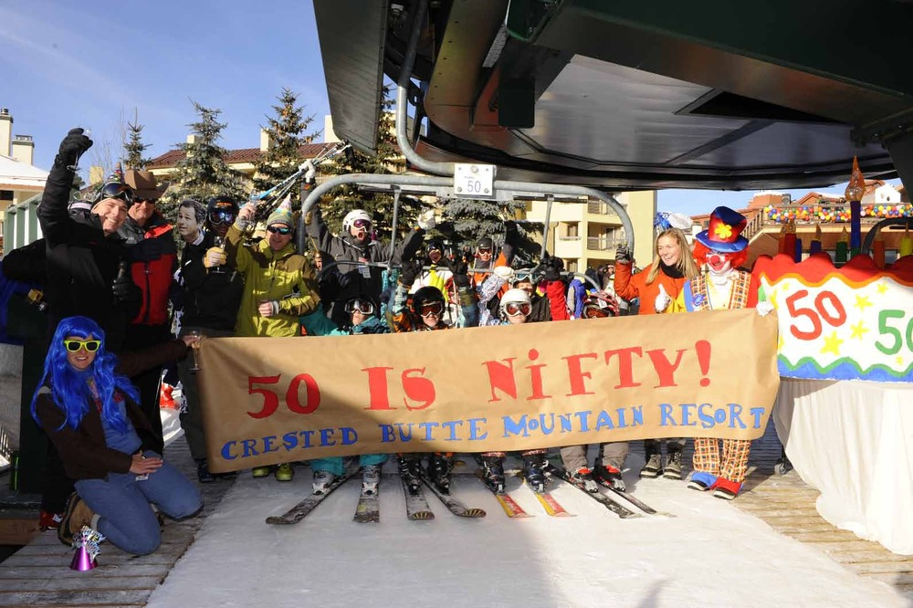 Crested Butte celebrates the start of their 50th anniversary during the 2011-2012 opening day
