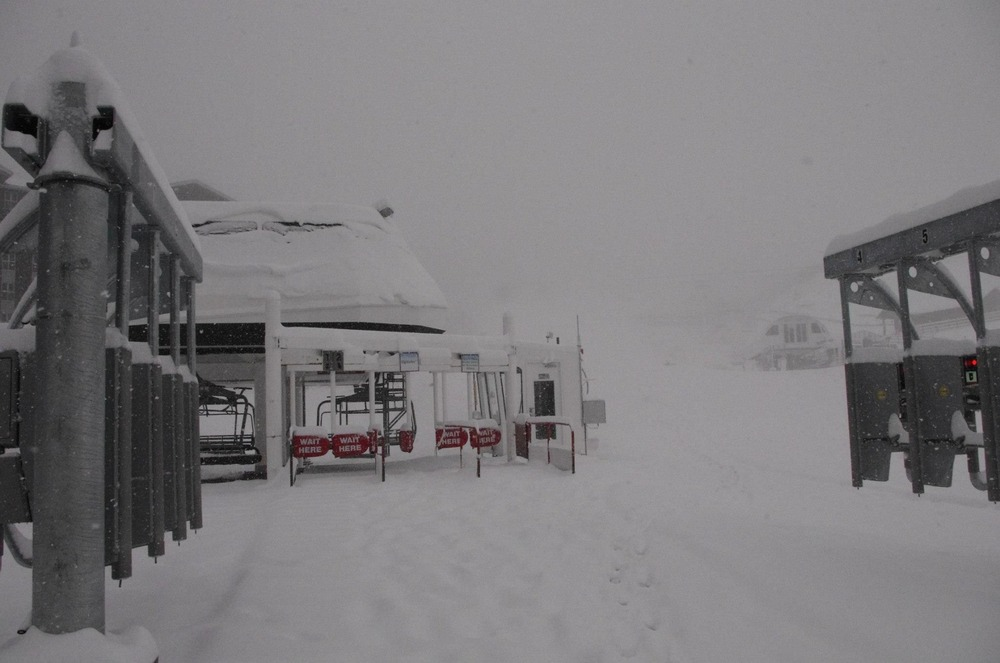 Snow from Winter Storm  Brutus at Park City Mountain Resort. Photo: Park City Mountain Resort/ Facebook