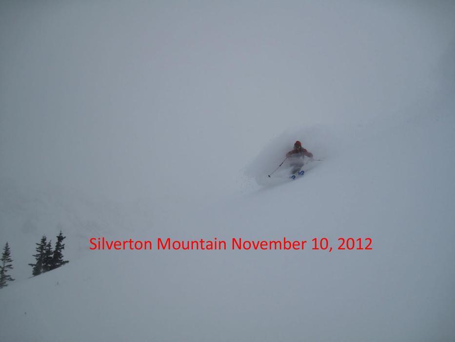 Early Season turns at Silverton Mountain thanks to Winter Storm Brutus. Photo: Silverton/Facebook/Doug Krause