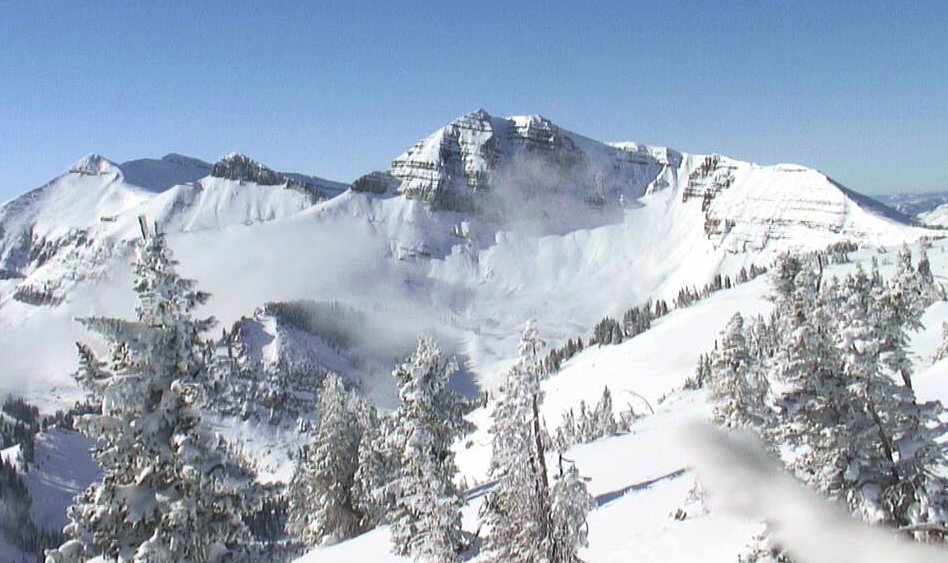 A mid-November webcam shot shows the snowpack in Cody Bowl at Jackson Hole. Photo courtesy of JHMR webcam. - ©Jackson Hole Mountain Resort webcam
