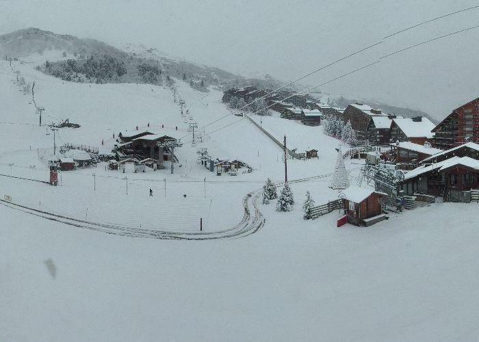 Fresh snow in Meribel. Nov. 28, 2012