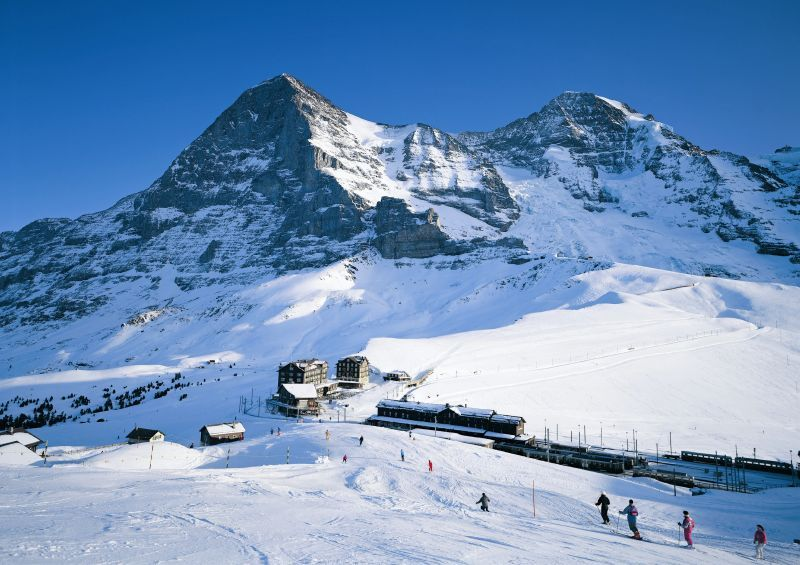 The base area at Grindelwald SUI