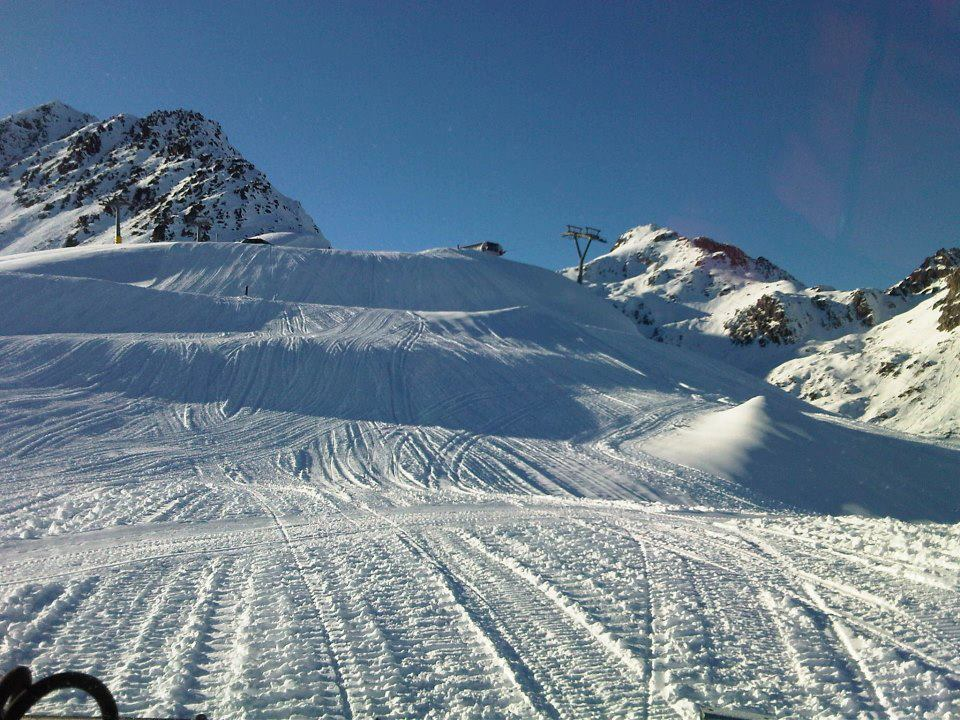 Groomed runs in Engadin-St. Moritz. Nov. 24, 2012