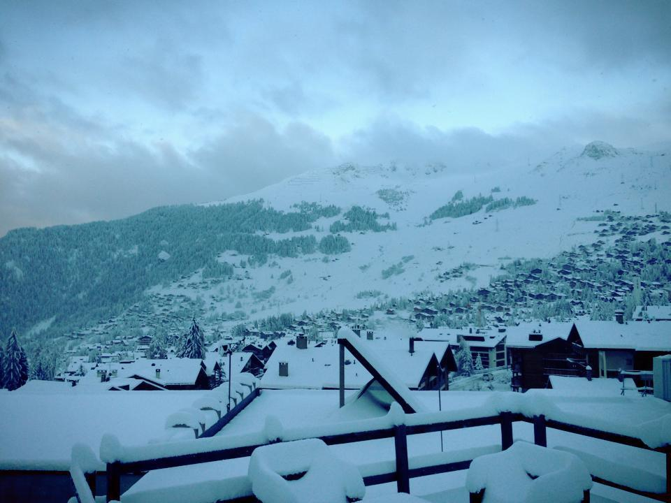Snow is piling up in Verbier. Dec, 4, 2012 - ©Verbier Sport Plus