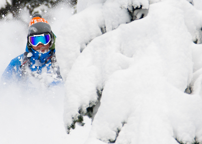 Over 15 inches of fresh powder fell on Grand Targhee this week, making for plenty of face shots. - ©Gabe Rogel