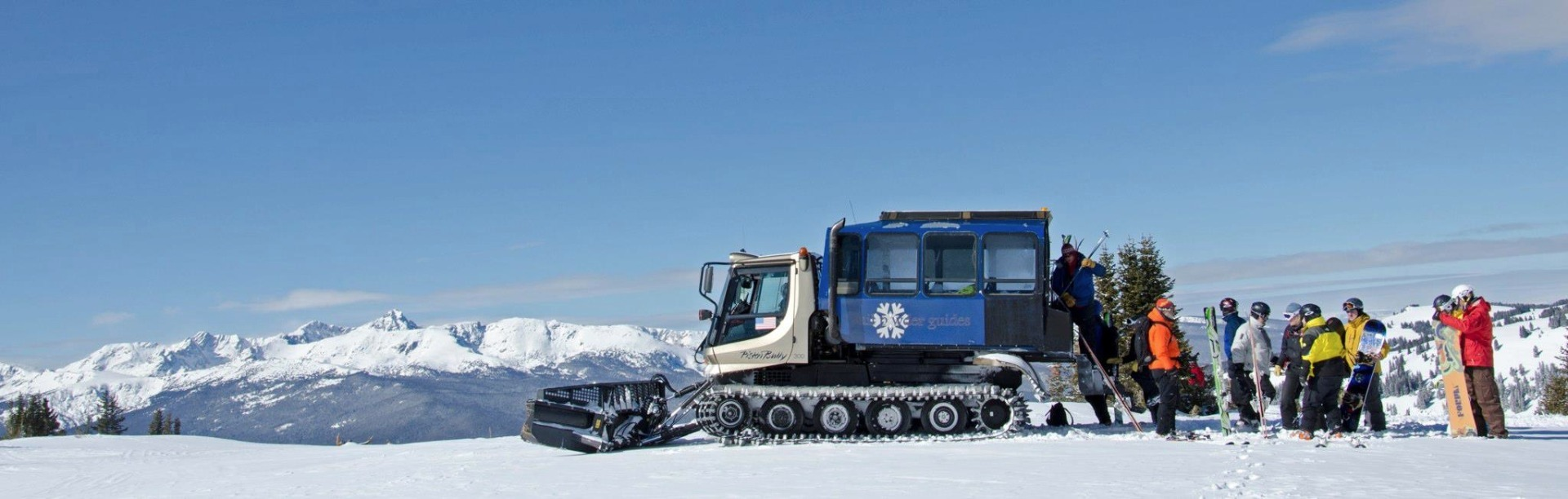 The snowcat with Vail Powder Guides.