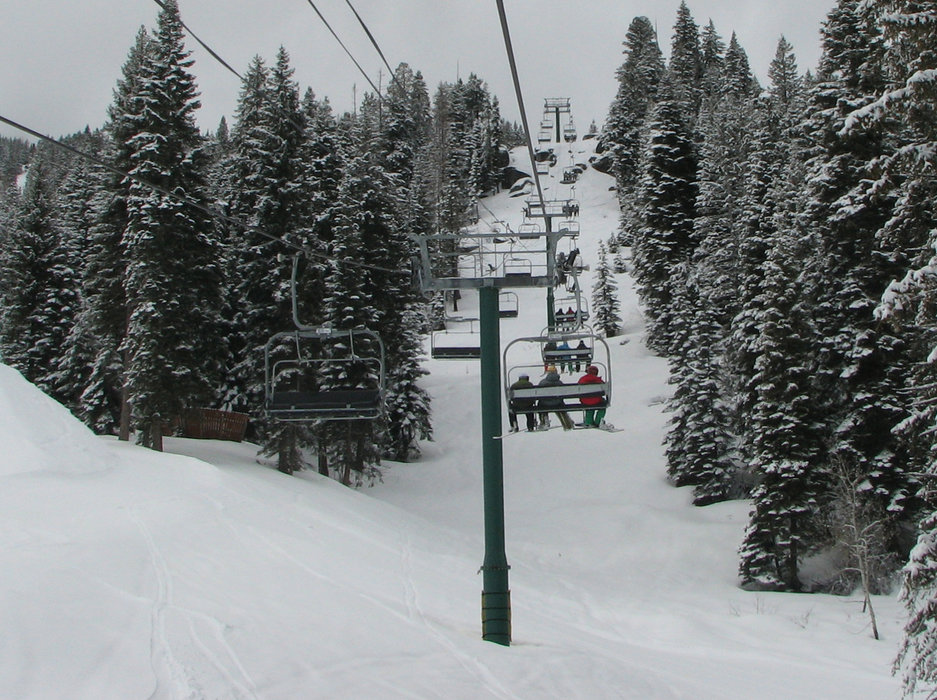 Chairlift at Tamarack Resort, Idaho. Photo by Brent/Flickr.
