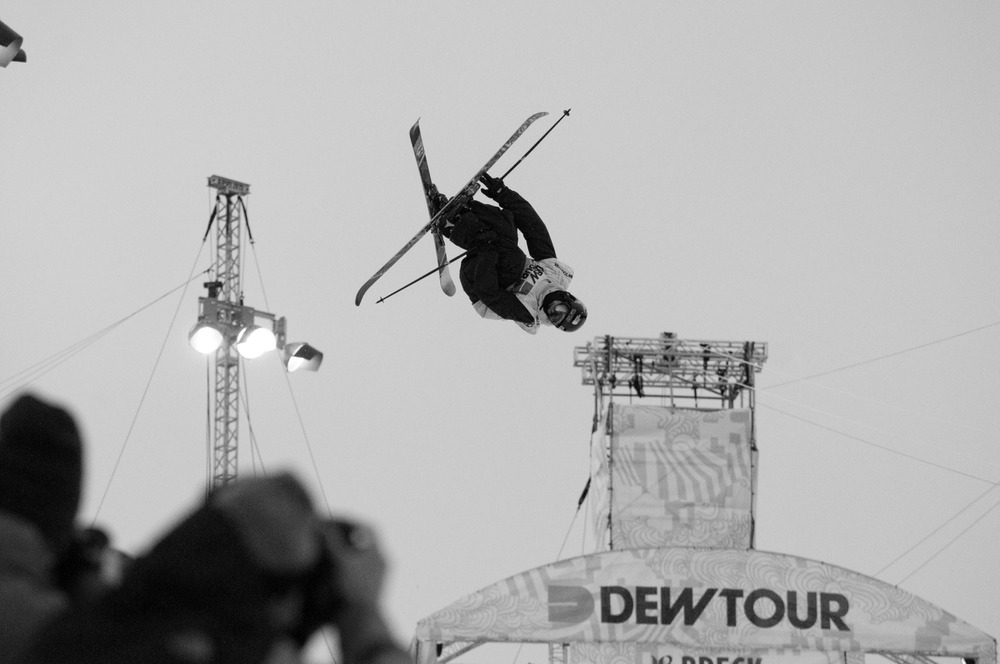 Freeskiers continue to develop ever-more complex aerial maneuvers in superpipe competitions.