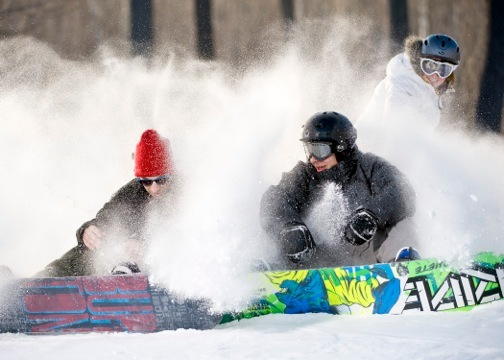 Snowboarders at Spirit Mountain in Minnesota. - ©Spirit Mountain