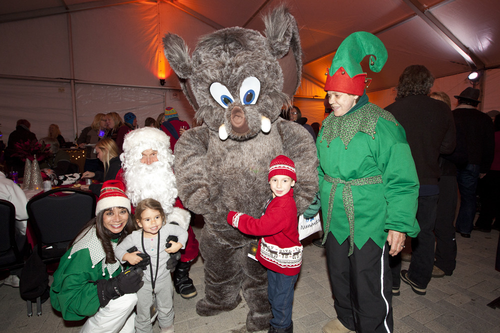 Kids can meet and take photos with Wooly at Night of Lights at Mammoth Mountain on Dec 22