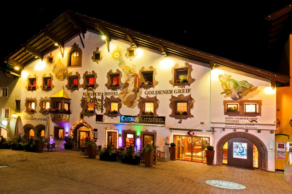 Casino Kitzbuehel in the traditional 13th-century Goldener Greif Hotel