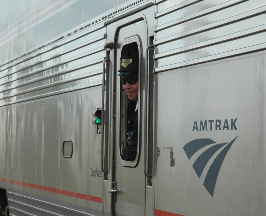Amtrak stops for skiers in Whitefish. Photo by Becky Lomax. - ©Becky Lomax
