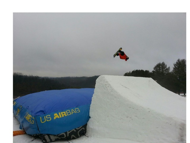 The airbag at Tyrol Basin allows freestyle riders to practice their skills in a safe and controlled environment. - ©Tyrol Basin