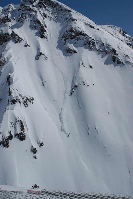 A steep face at Silverton Mountain.