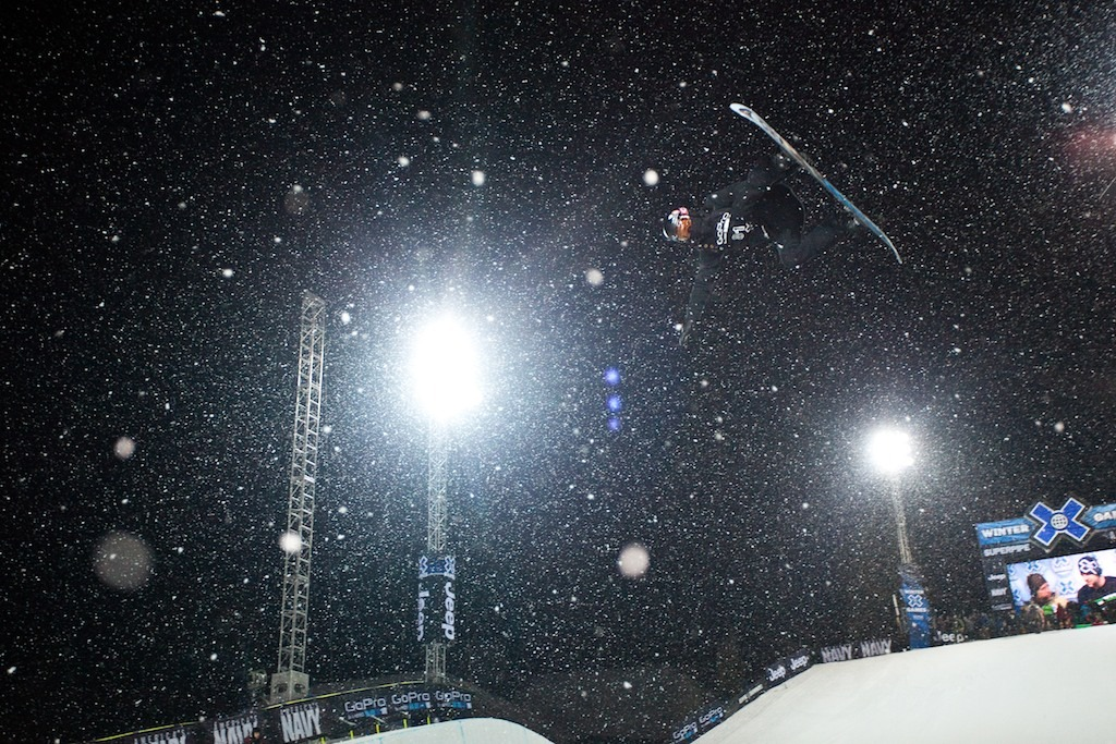 Shaun White placed second at the Snowboard Superpipe elimination round
