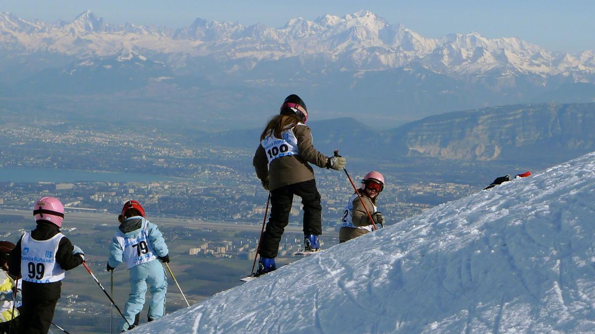 Ski above Geneva and Lake Geneva