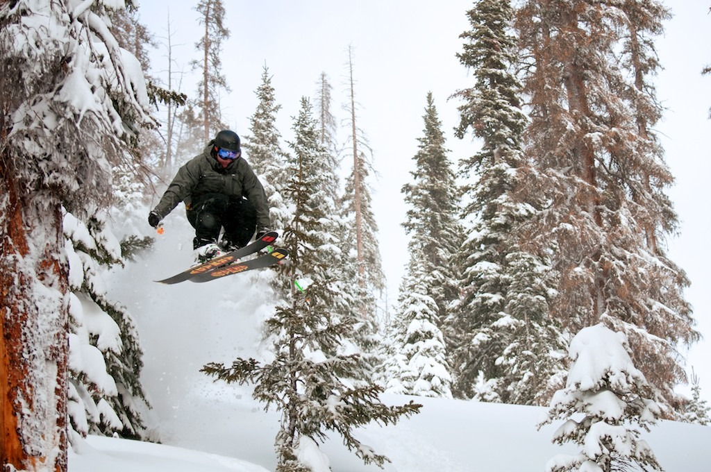Beechie Miller samples some air at Wolf Creek.