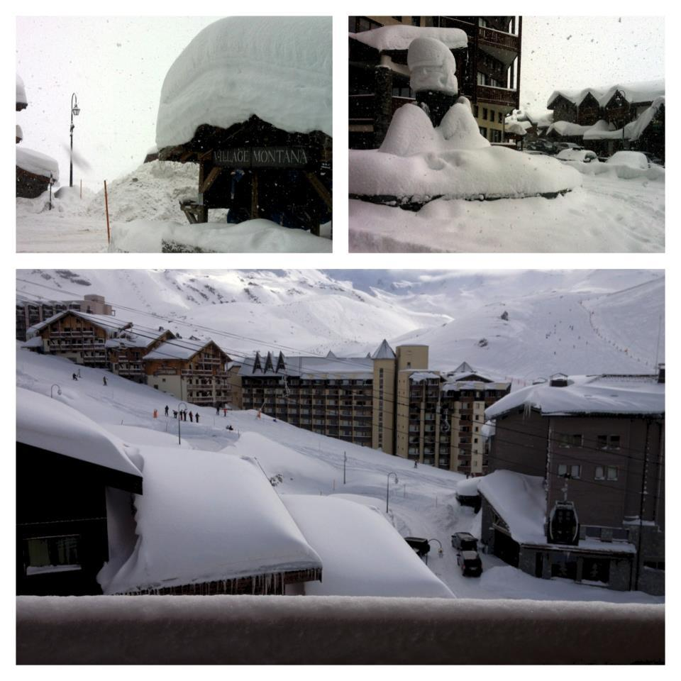Fresh snow in Val Thorens. Feb. 3, 2013