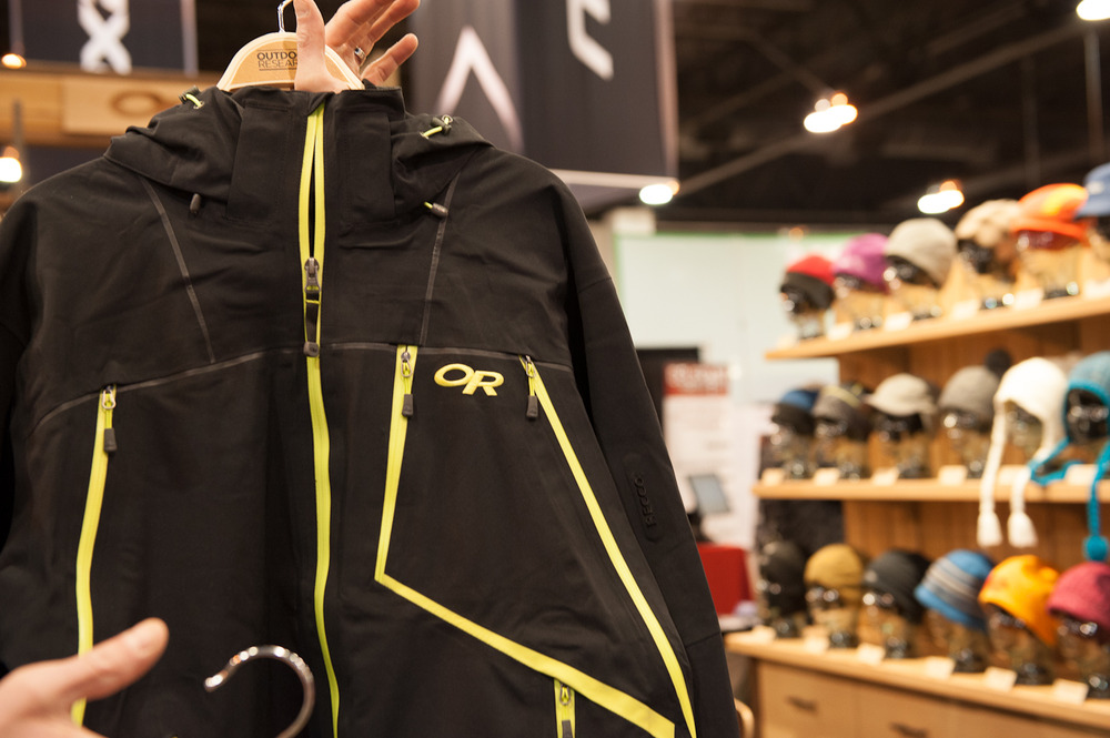 The Vanguard Jacket from Outdoor Research is a soft shell featuring GORE-TEX and Recco technology. The easily accessible vent zips make it extremely breathable for those backcountry hikes.