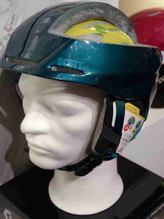 helmet at Scott stand at ISPO Munich 2013 - ©Juliane Matthey