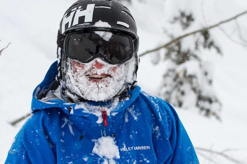 Deep Champagne powder makes for frosty, smiling faces.