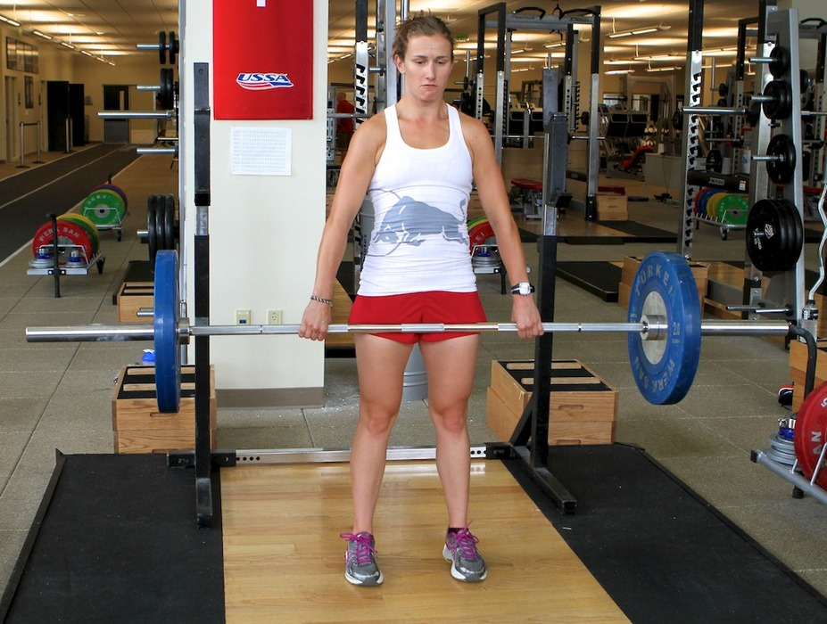 Romanian Deadlift with Heather McPhie. - ©Dan Kasper