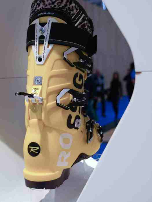 Ski boot at Rossignol stand at ISPO Munich 2013 - ©Juliane Matthey