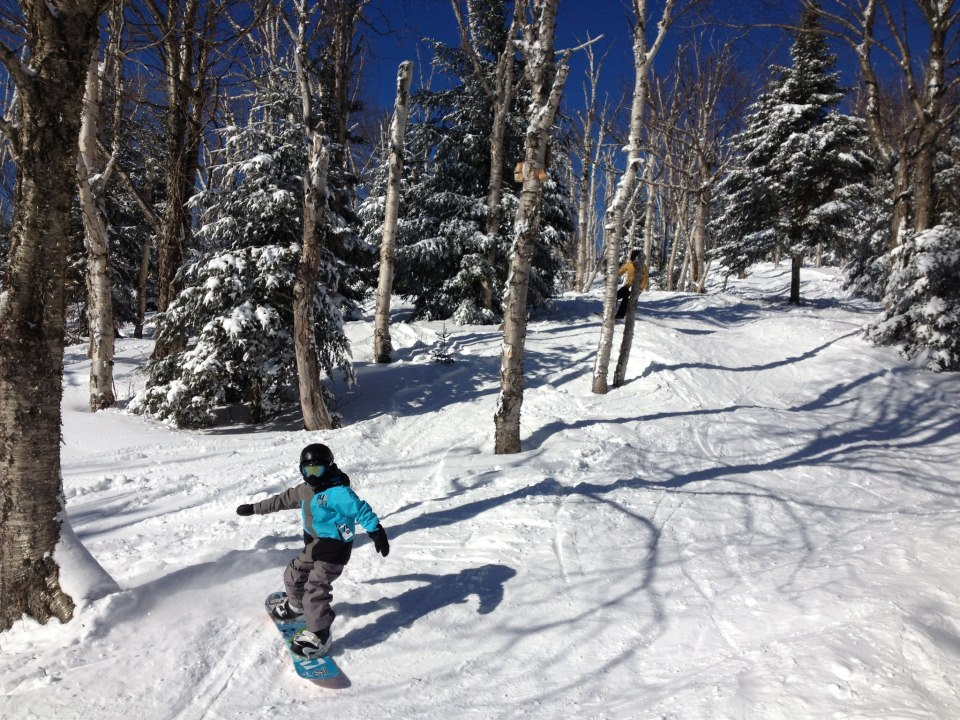 Soft turns in the trees. Photo Courtesy of Mont Tremblant.