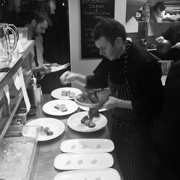 Chef Nick lining up food for Alta Bistro's first New Years Eve party.  - ©Alta Bistro