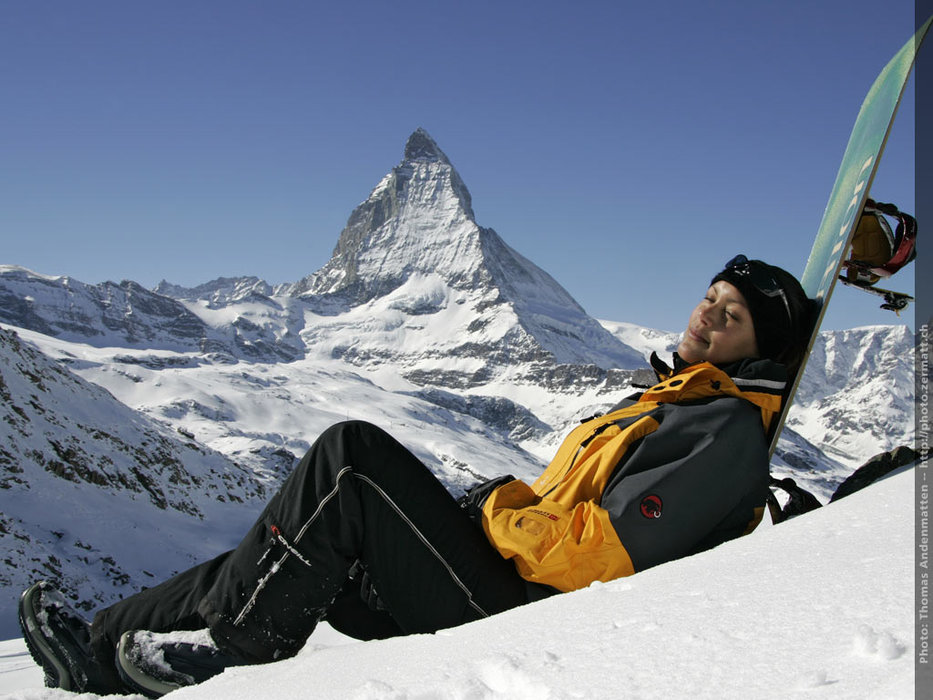 Soaking up the late-season sun in Zermatt